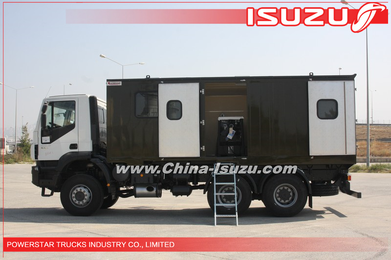 6*6 10wheels Heavy duty Truck Mounted Workshop Truck