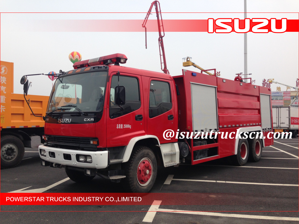 10000L Isuzu Emergency Water Foam Fire Truck with Dry powder