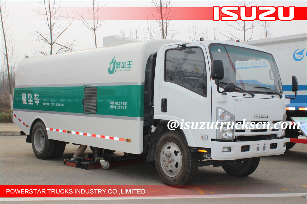 Brand Algeria New 6~8m3 Isuzu Dust Suction Sweepers Truck
