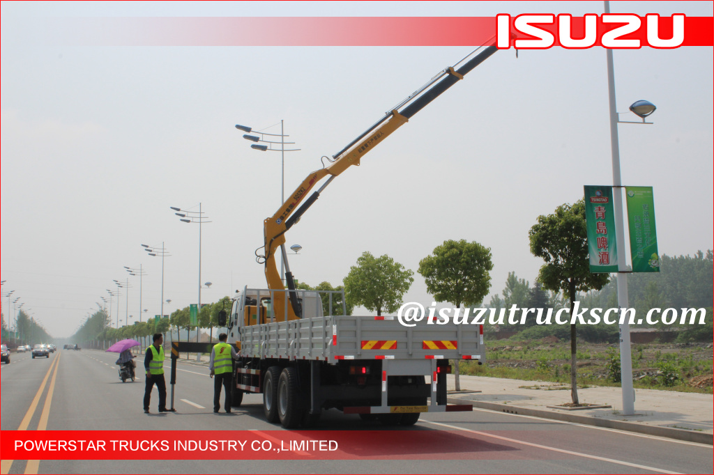 10 wheels Heavy Duty Isuzu Knuckle Boom Truck Crane, ISUZU Crane trucks