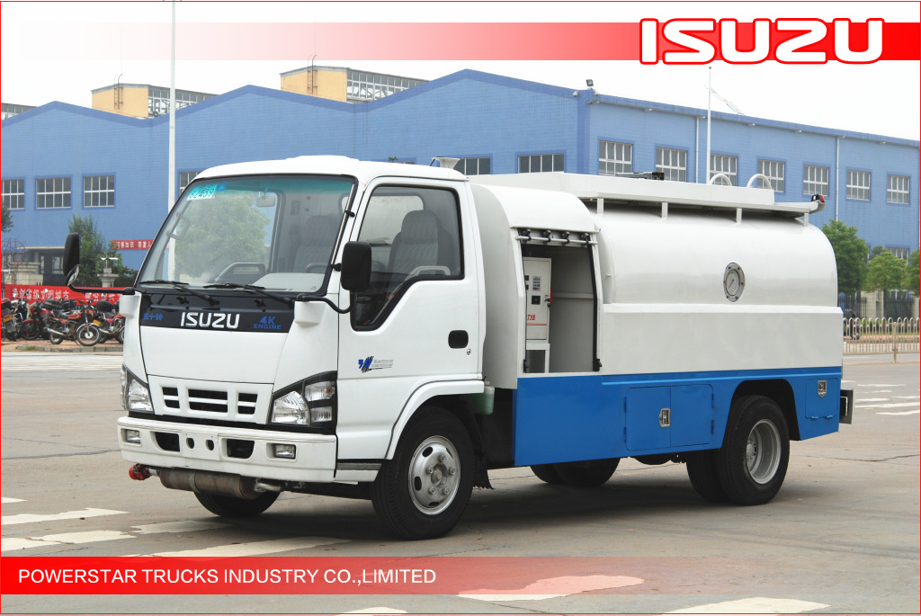 4000L Isuzu Fiscal Refuel Tank Truck for Gasoline/Light Diesel Delivery
