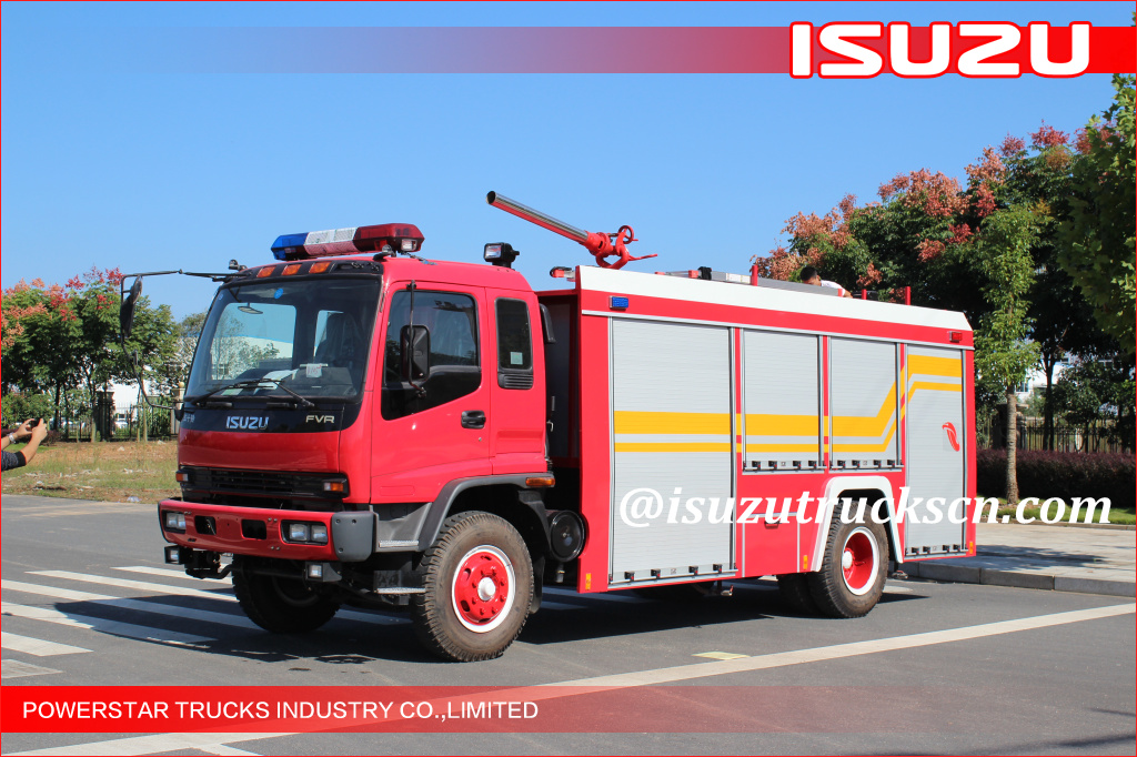 5000L single cabin Water Foam fire truck Isuzu