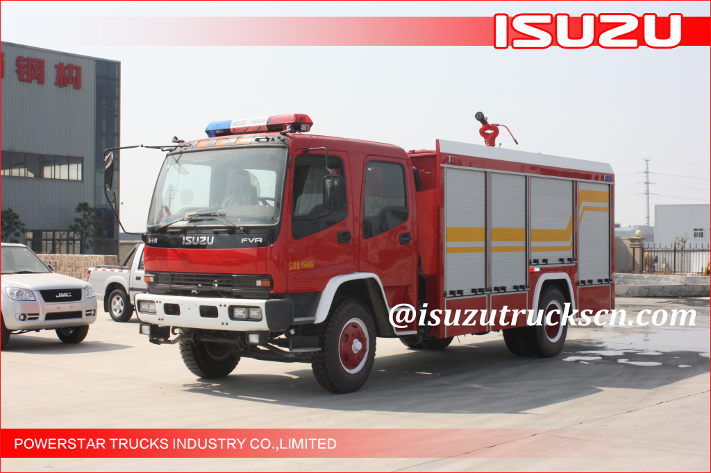 4x2 6000L Water Foam Japanese Isuzu FVR Fire fighting Vehicle for sale