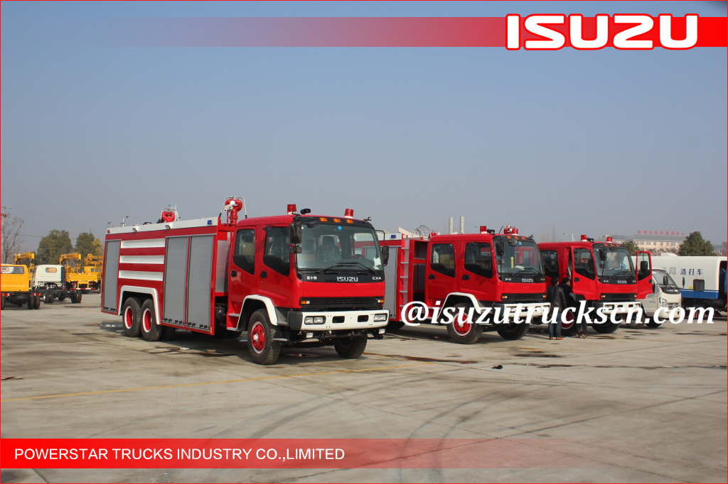 6*4 12000L Fire Truck Isuzu water foam Fire Vehicle supplier