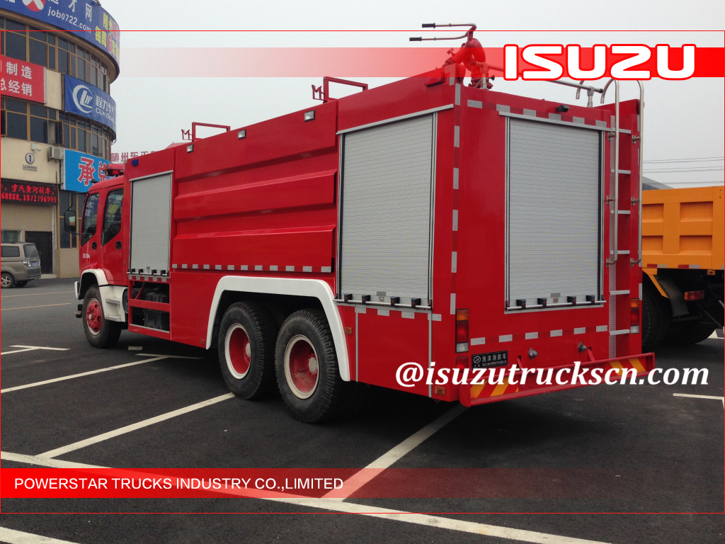 Isuzu Emergency Water Foam Fire Truck with Dry powder
