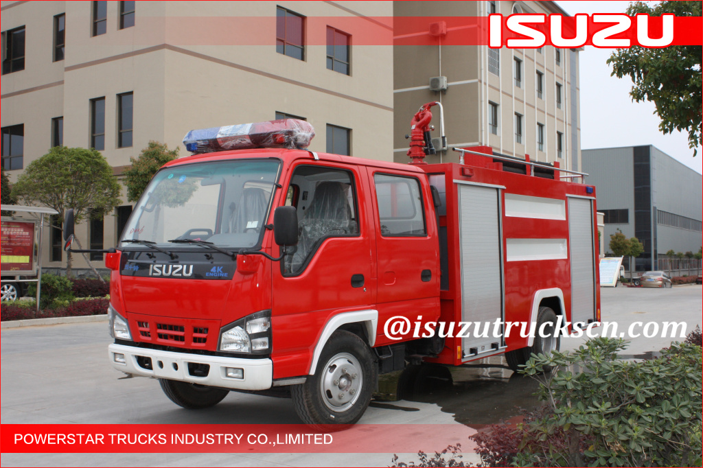 2000L ISUZU Water Fire Trucks Water Mist