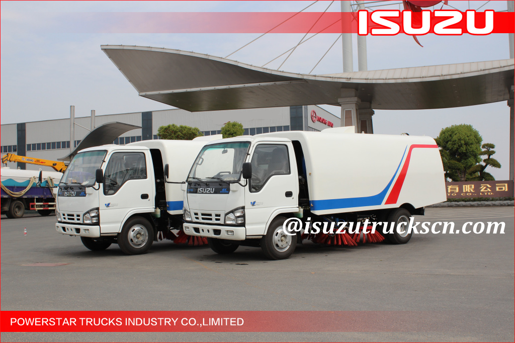 5cbm Isuzu Street Sweeping Garbage Truck city cleaner