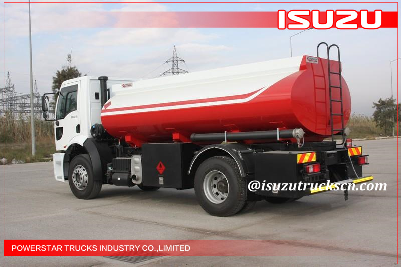 High Efficiency 7000l Elf 700p Fuel Oil Tank Truck Isuzu