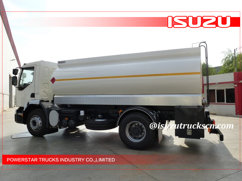 10000L FTR FVR Oil Tank Truck 4x2 Isuzu Liquid Tanker For Gas Stations