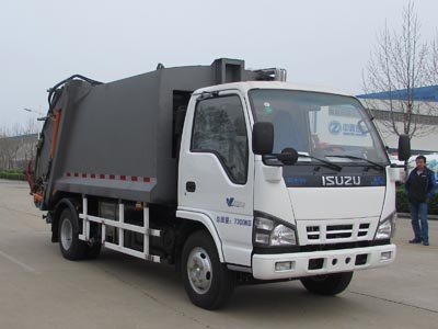 Compressing Rear loader Garbage trucks Isuzu