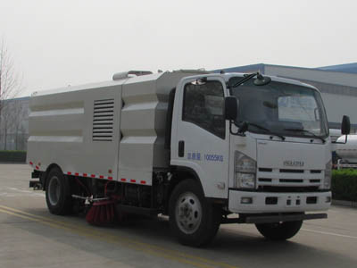 Isuzu road washer street sweeping vehicle