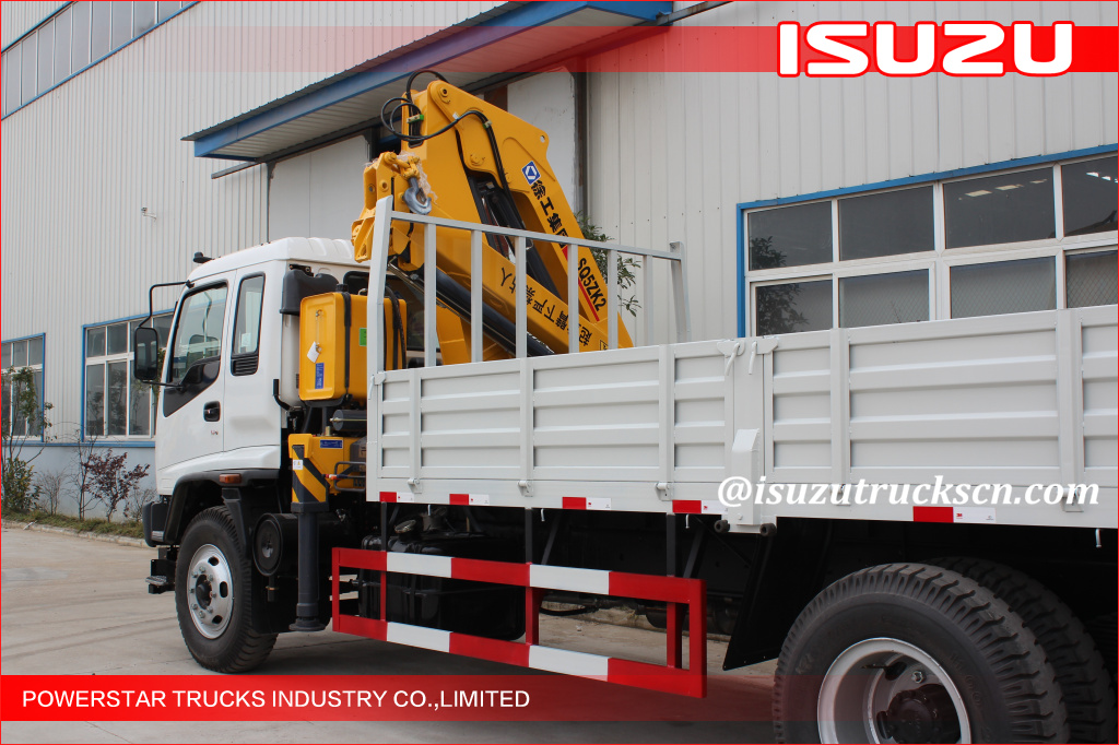 Quality Isuzu 25 Tons Commercial Knuckle Boom Truck Mounted Crane