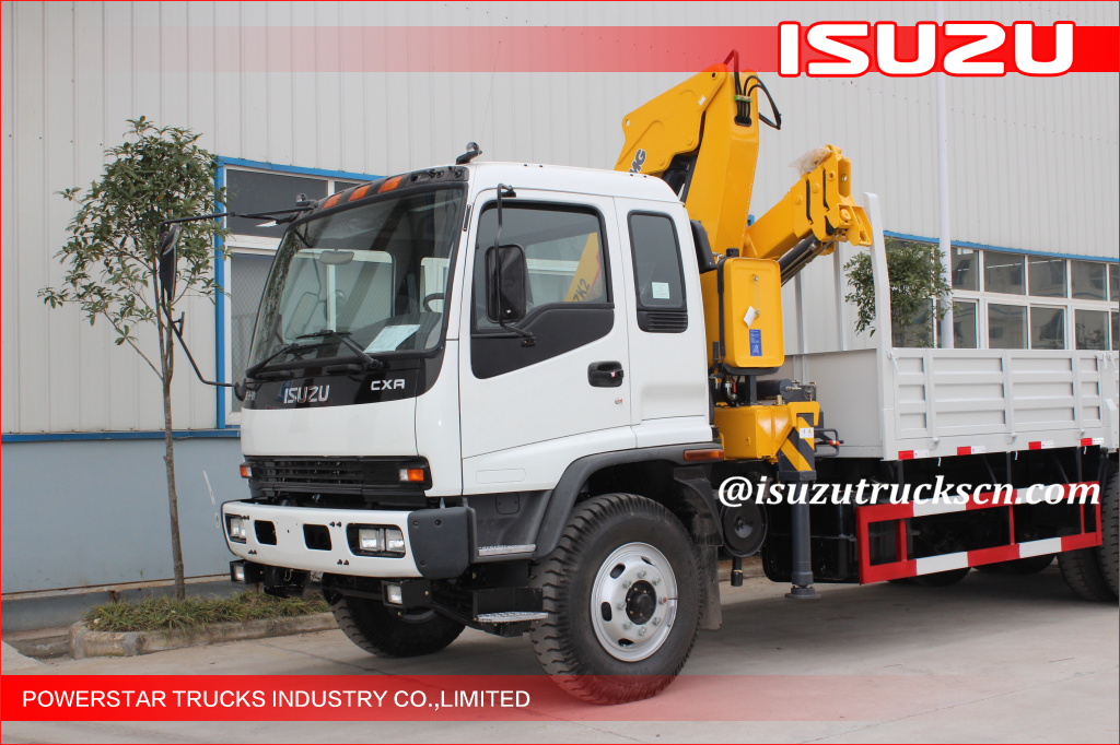2tons Isuzu Structure Knuckle Boom Truck Mounted Crane