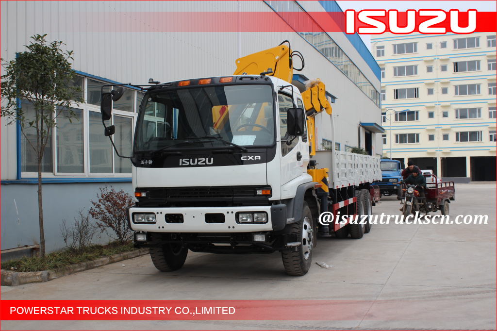 2T Isuzu chassis straight arm telescopic truck crane/truck with crane