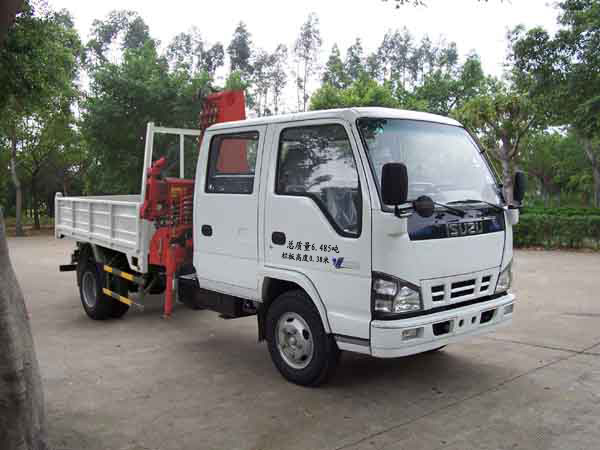 2100KG isuzu Lifting Hydraulic Truck Mounted Crane