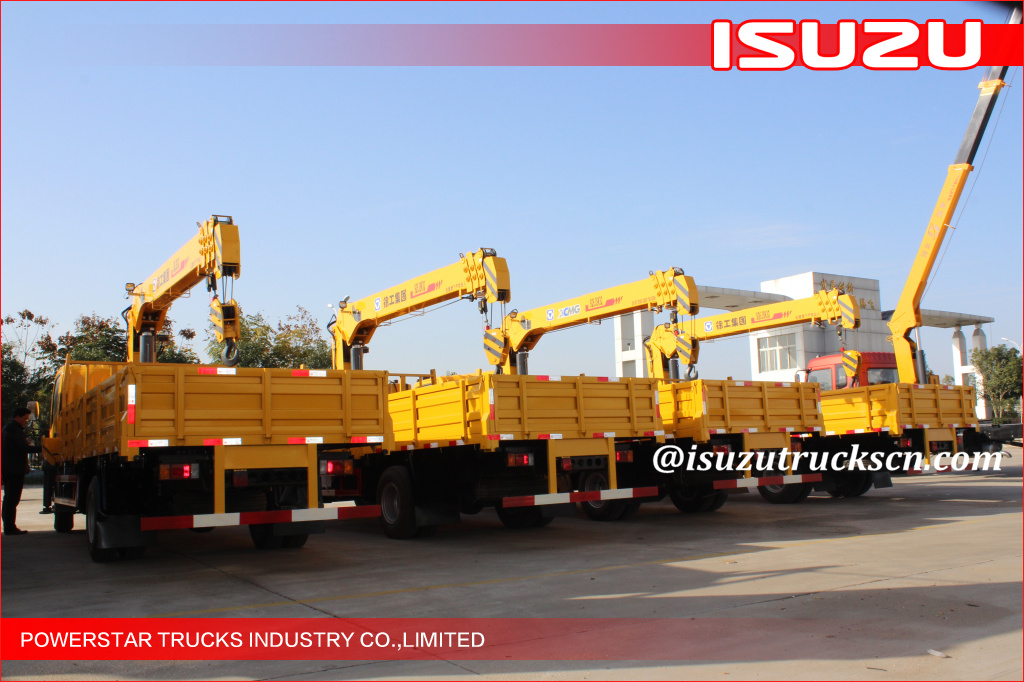 ISUZU Durable Commercial Articulated Boom Crane With 11m Lifting Height