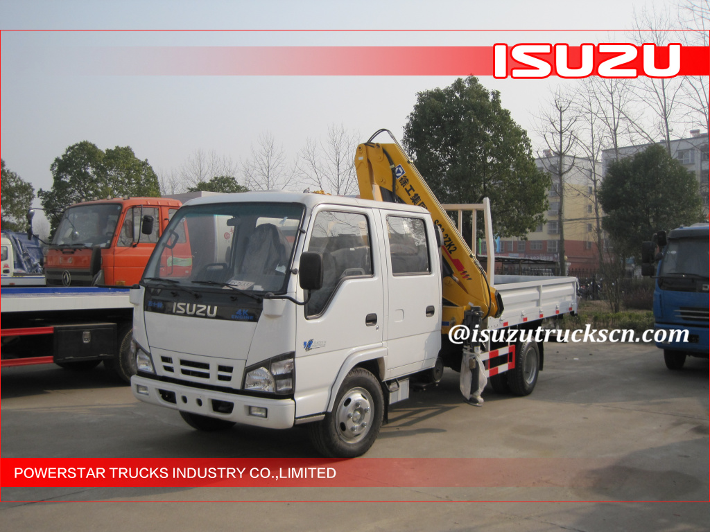 ISUZU 3200kg light Commercial Mobile Truck Loader Crane