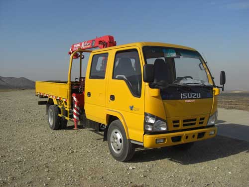 ISUZU brand 4T Telescopic Truck Loader Crane With 10 Meters Lifting