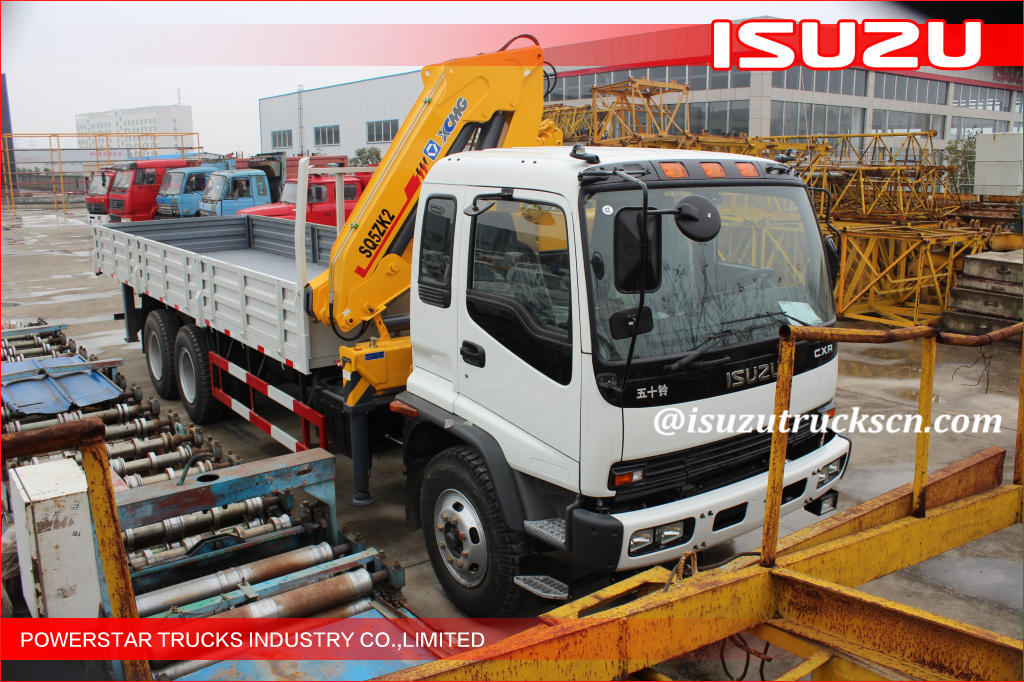 ISUZU 10T Commercial Truck Loader Crane With Driven By Hydraulic