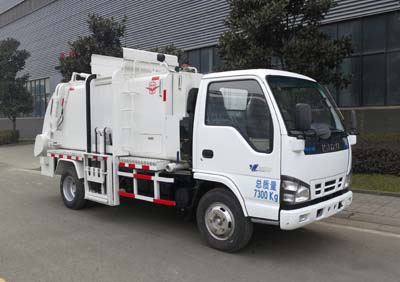 Light duty Isuzu garbage truck Waste compressor