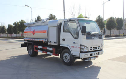 New arrival customized for export hot ISUZU 5000L 5m3 5cbm fuel tanker truck oil transportation truck