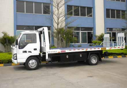 3ton Isuzu Flat low bed road wrecker tow truck for sale