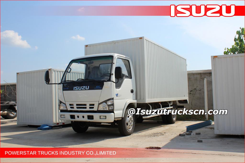 Hot Selling Isuzu Elf 4x2 Light Duty Van Type Truck 3t Van