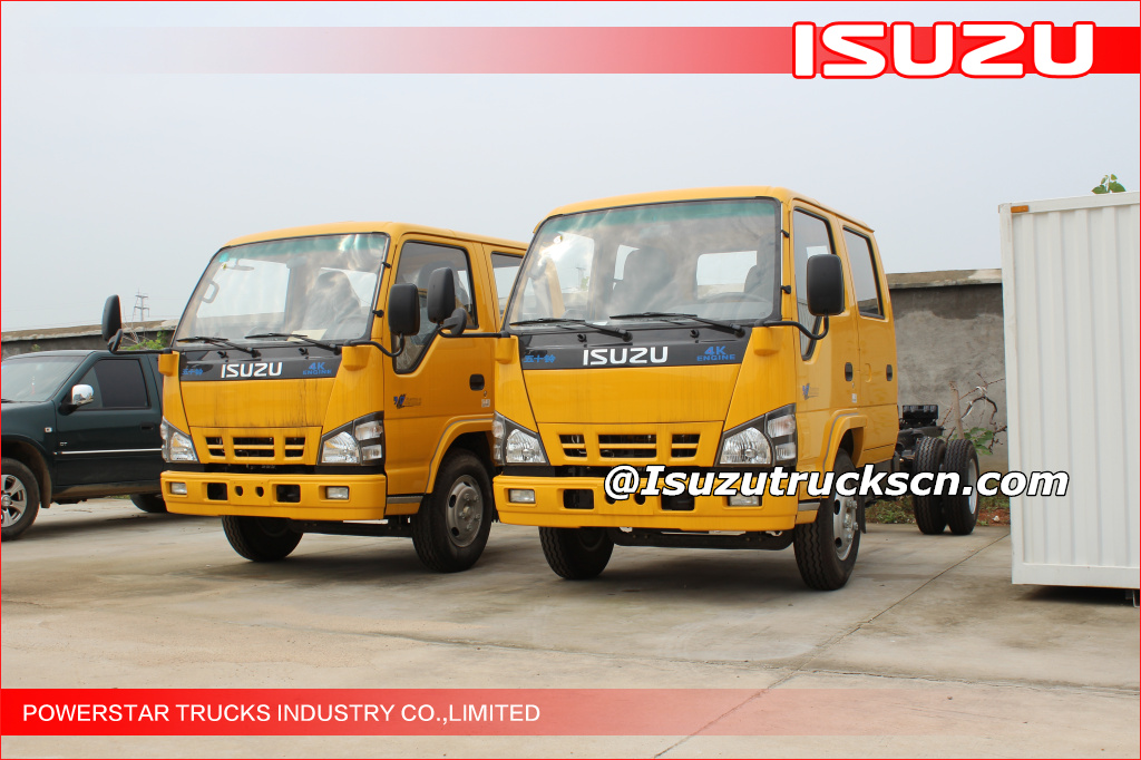 14m 16m ISUZU aerial dobule cab truck chassis for high altitude operation truck application