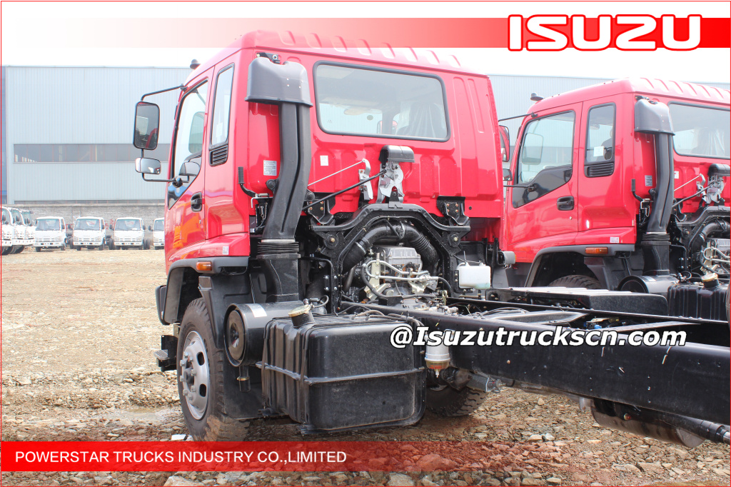 Isuzu FVR heavy chassis for industrial foam water fire truck application
