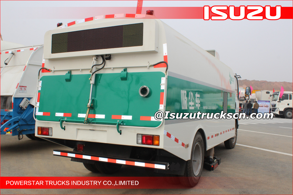 EFL Isuzu road clean vacuum sweeper truck industrial street sweeper Isuzu