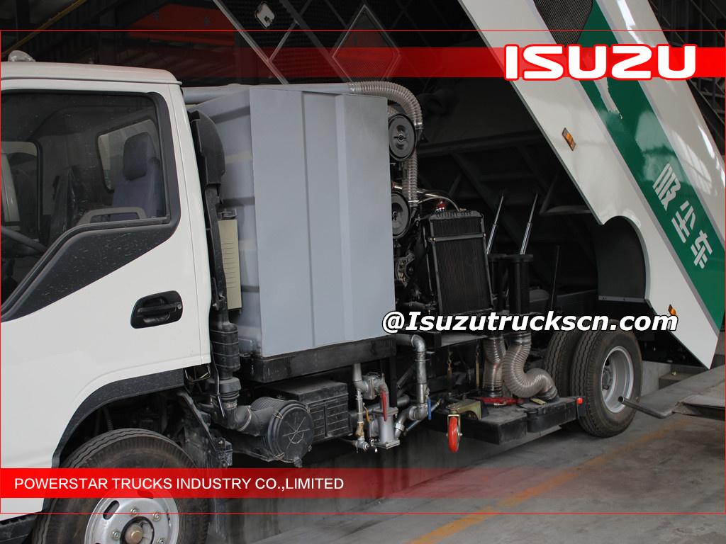 EFL Isuzu road clean vacuum sweeper truck industrial street sweeper Isuzu