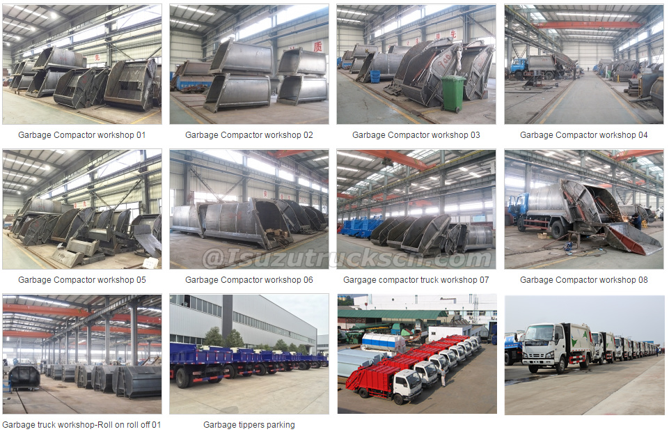 Isuzu Garbage compactor truck workshop factory
