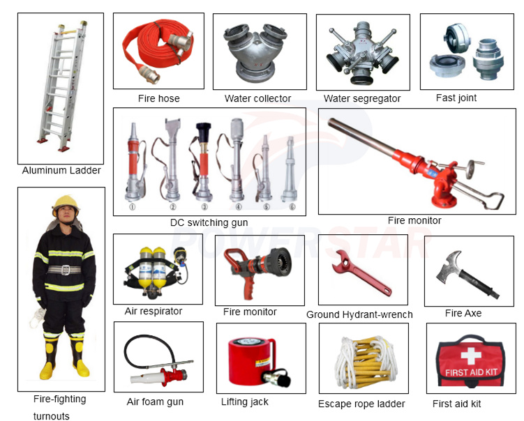 Isuzu Fire-Fighting trucks equipments accessories