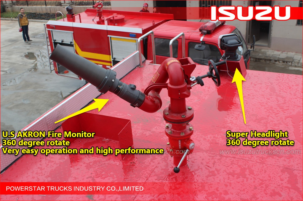 8x4 25,000L ISUZU Water Fire Truck with Darley fire pump and akron monitor