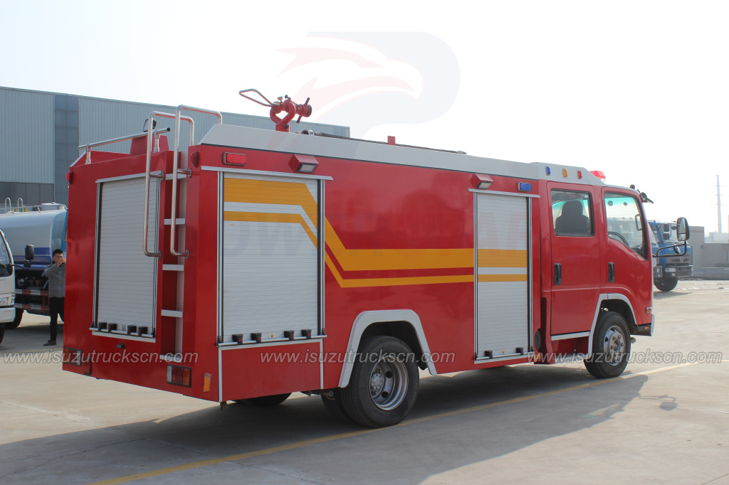 NPR ELF Water Fire Engine Truck to Mongolia