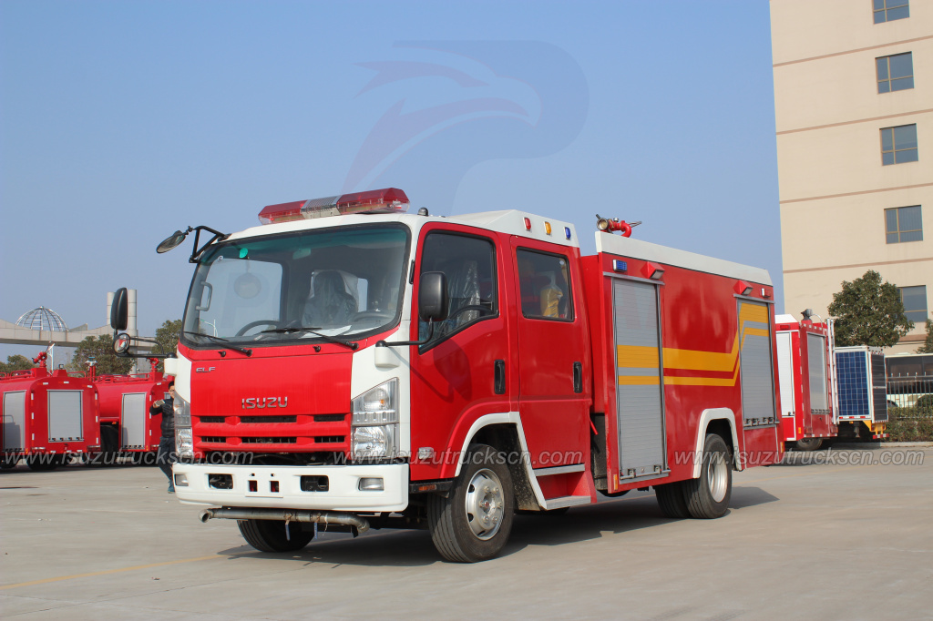 2016 New NPR Fire rescue vehicles with 3000L capacity