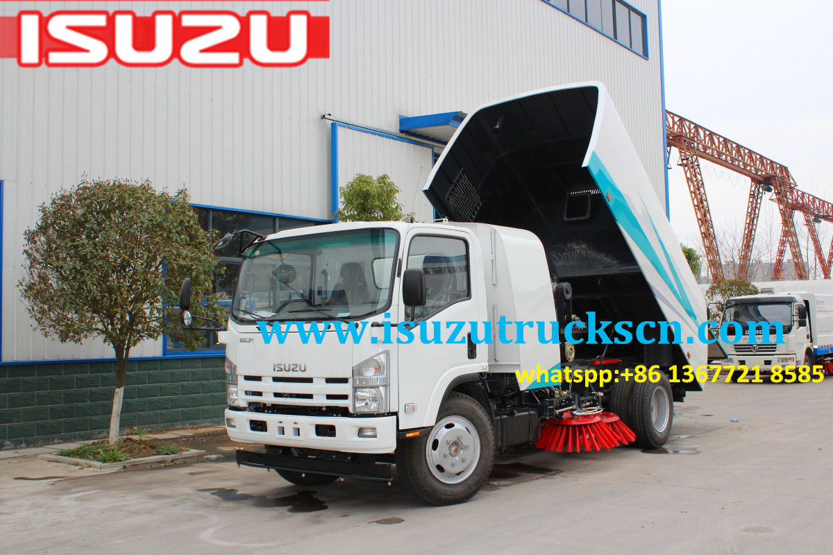 Myanmar 8cbm ISUZU NPR ELF Road Sweeper trucks sweeper master