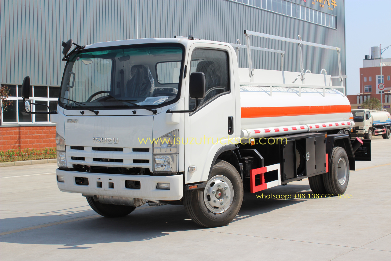 Isuzu 5000L NPR ELF diesel gaoline refuel tank truck oil tank truck