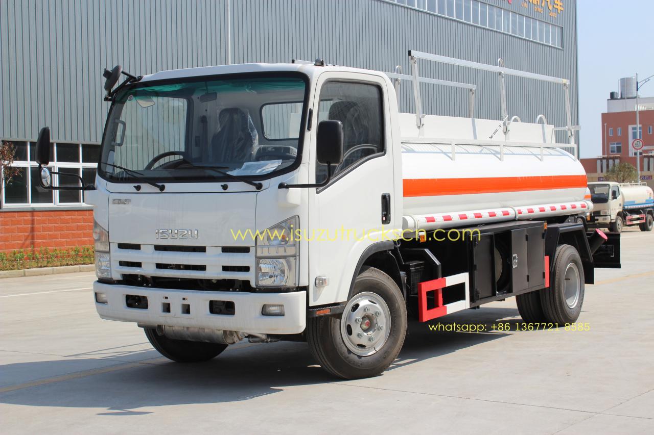 High Efficiency 5000l Elf Refuel Tanker Truck Isuzu Oil