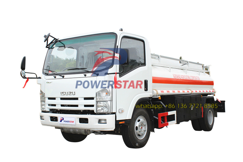 Custom Made Isuzu 5cbm Oil Fuel Tank Truck for Sudan market