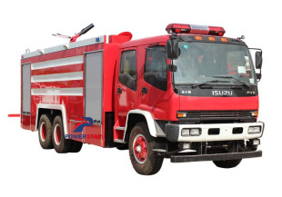 Japan Isuzu water foam fire fighting tender fire engine