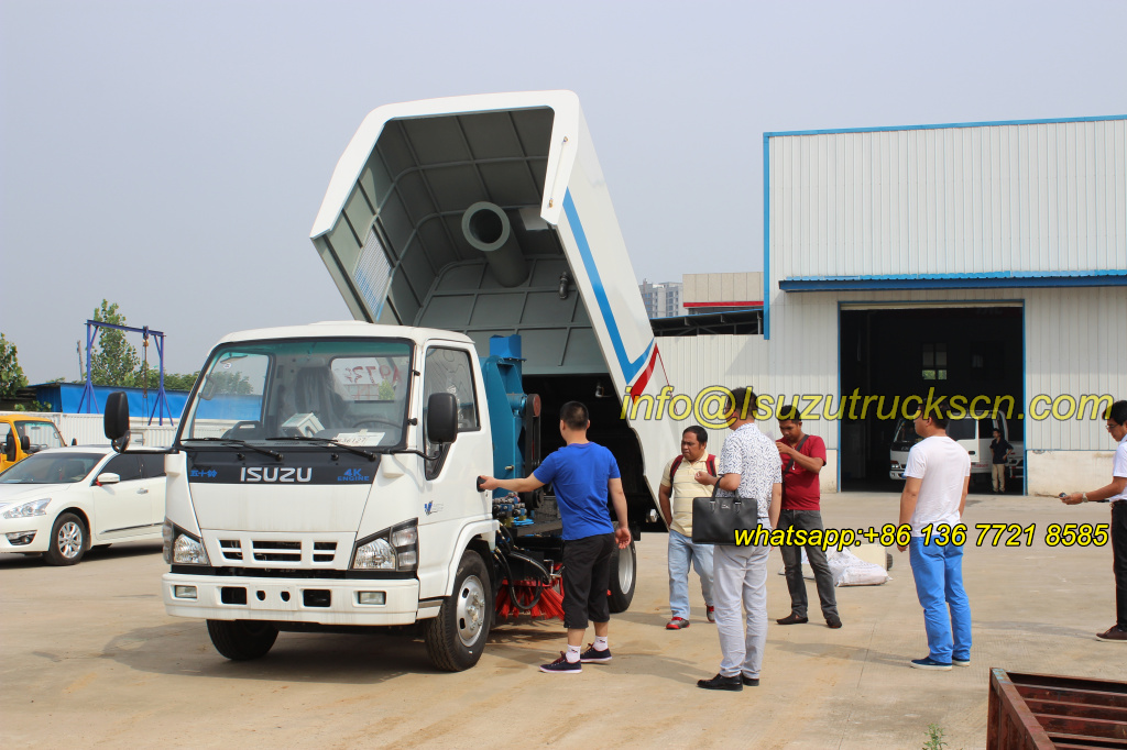 Philippines custom inspection street sweeper truck Isuzu