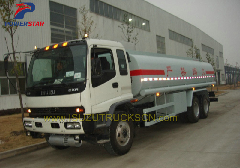 Customer made 20,000L fuel tanker truck Isuzu detail pictures