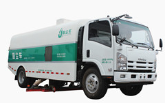 Vacuum stuciton road sweeper trucks Isuzu NPR ELF