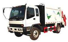 Waste compactor truck Isuzu