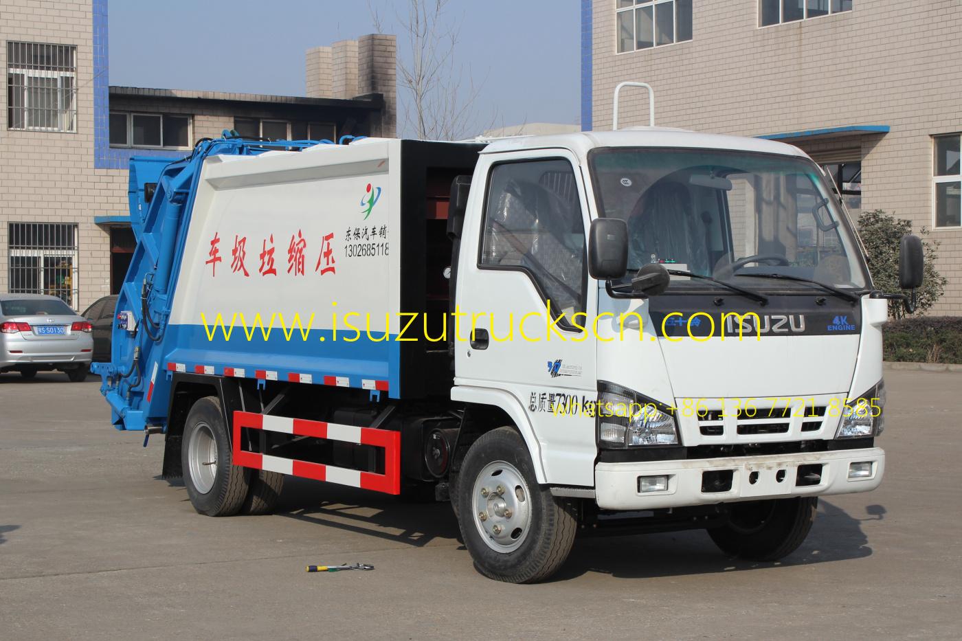 3 Ton Isuzu Garbage Truck With Compactor At Price