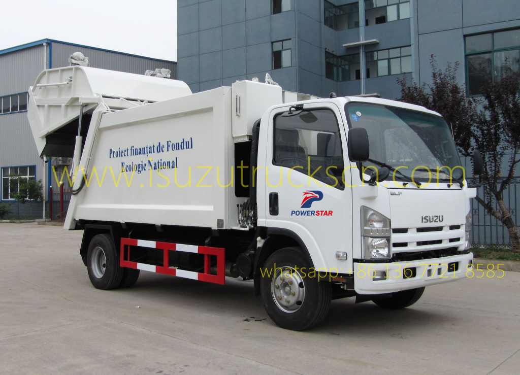 8 Cbm Waste Compactor Truck Isuzu At Price Concessions