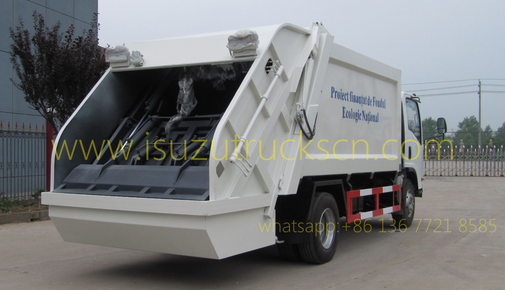 5tons / 8tons Trash Compactor Truck Isuzu specification and pictures