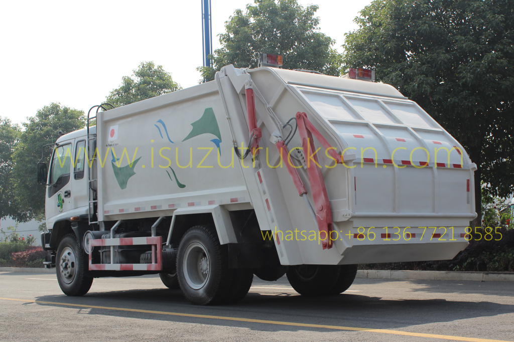 Garbage Compactor Vehicle Isuzu 14CBM specifications and picture