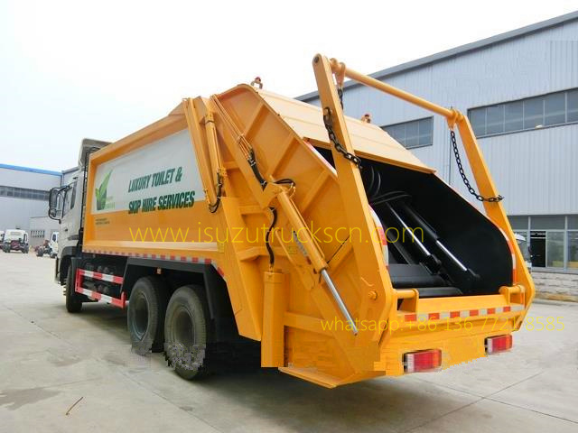 Urban Garbage Compactor Truck Dongfeng 20 CBM detail pictures